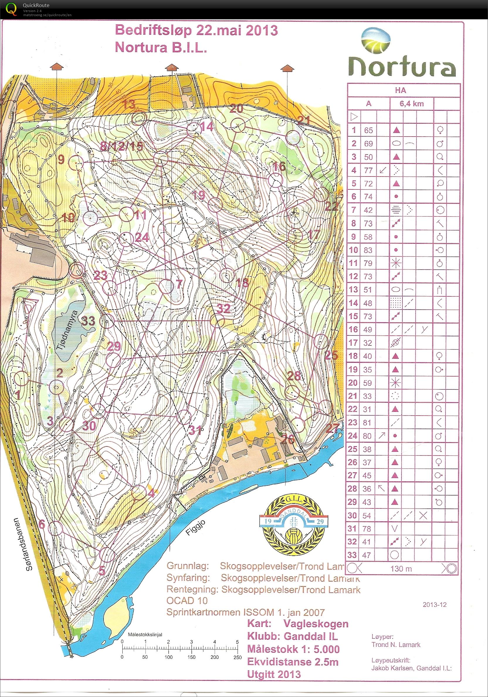 vagleskogen kart Bedriftsløp 7 Vagleskogen   May 22nd 2013   Orienteering Map from  vagleskogen kart